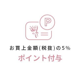 お買上金額(税抜)の5%ポイント付与